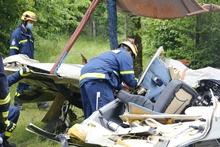 Thw Lv Herpsl Flugzeugabsturz Im Westerwald Thw Krafte Unterstutzen Feuerwehr